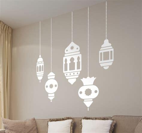 stencil per muri interni stencil muro lanterne orientali tenstickers
