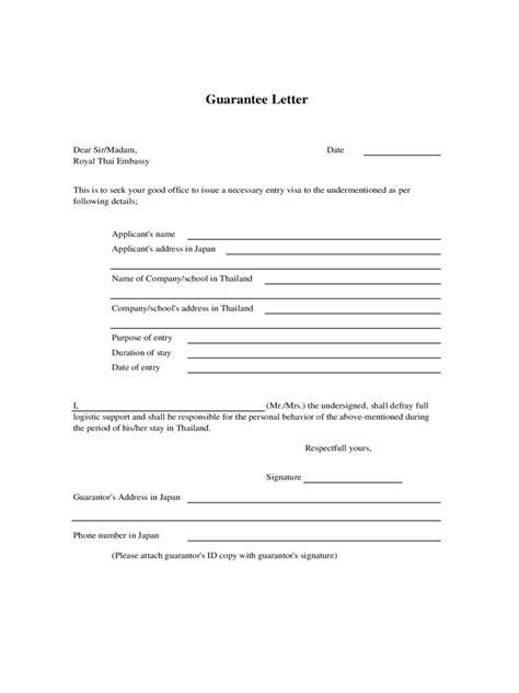 Guarantee Letter For A Letter Of Guarantee 2 Free Templates In Pdf Word Excel