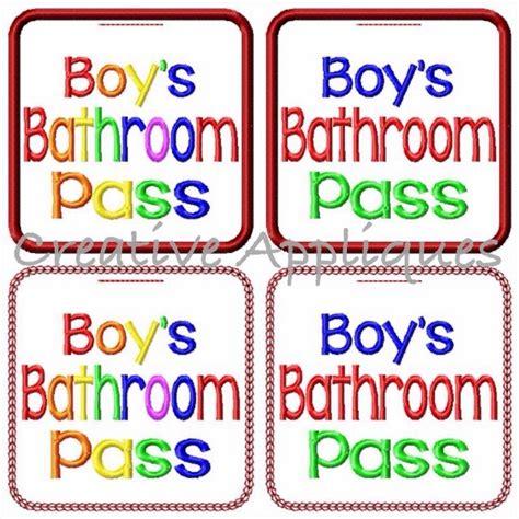 boys bathroom pass boys and girls bathroom pass set