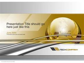 global technology powerpoint cover page template