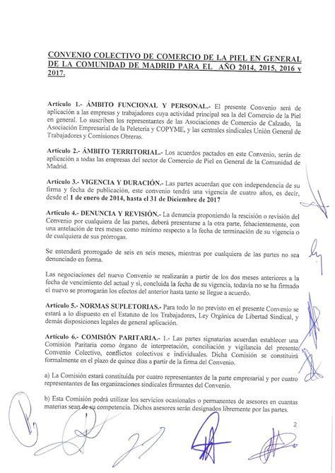 convenio colectivo comercio metal barcelona 2016 convenio colectivo de comercio textil cantabria calam 233