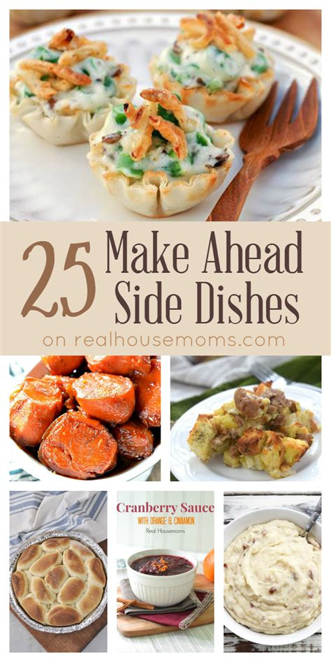 make ahead food gift recipe world 25 make ahead side dishes