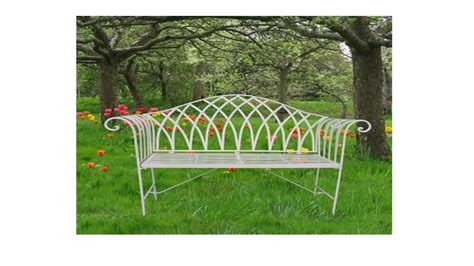 cream garden bench curved cream metal garden bench homegenies