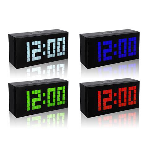 big display large alarm clock time modern alarm clock smart clocks countdown digital snooze