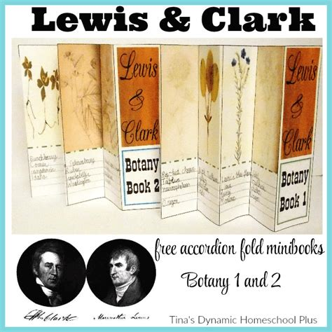 free printable lesson plans on lewis and clark free lewis and clark botany mini fold books free