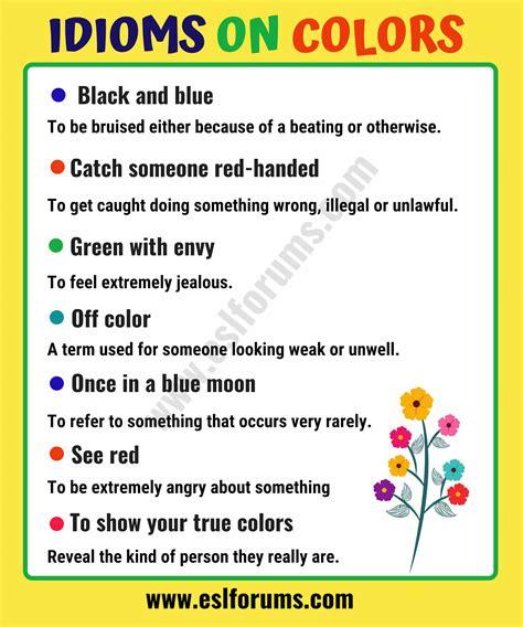 color idioms interesting color idioms in esl forums