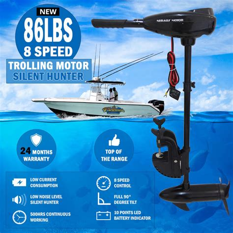 electric boat accessories new 86lbs 8 speed trolling motor electric inflatable boat