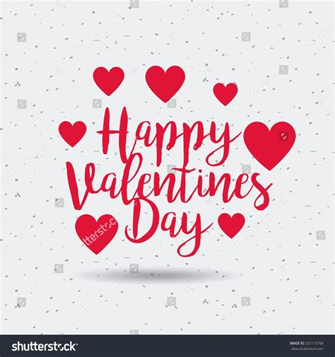 valentines day card design hearts vector stock vector happy valentines day card red hearts stock vector
