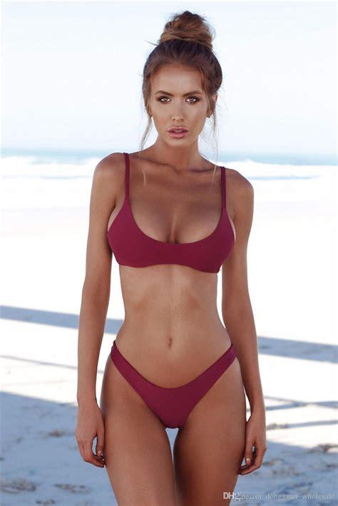 Bathing Set 2019 2018 sets wear swimsuit solid