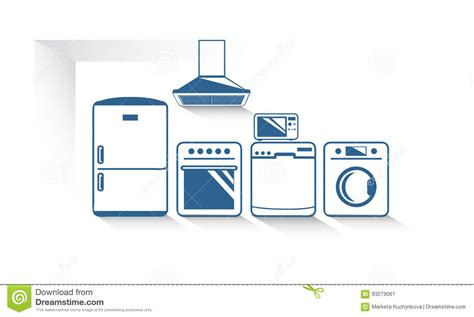 The Kitchen Appliances Vector Graphic Stock Vector Image Kitchen Web Design