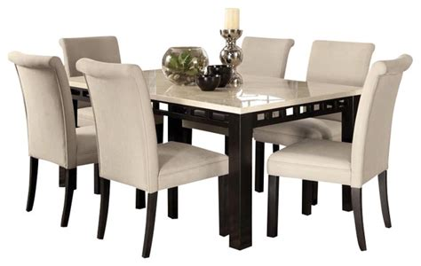 gateway 7 dining room set with parsons chairs white