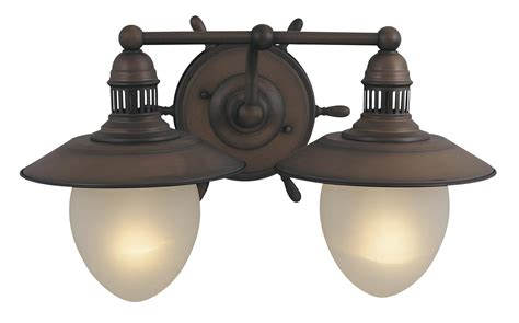 Nautical Vanity Light Orleans Nautical 2l Bathroom Vanity Light Vaxcel Antique County Vl25502rc Ebay