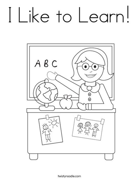 printable coloring pages to learn colors i like to learn coloring page twisty noodle