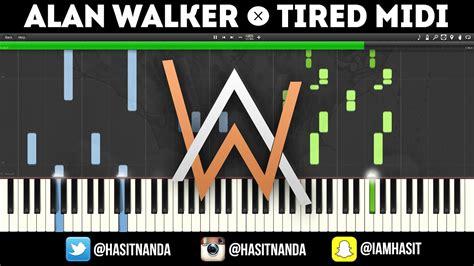 alan walker tired chord alan walker tired piano tutorial youtube