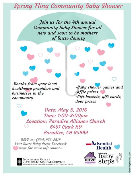 Community Baby Shower by Community Baby Shower Paradise May 5 Helpcentral Org