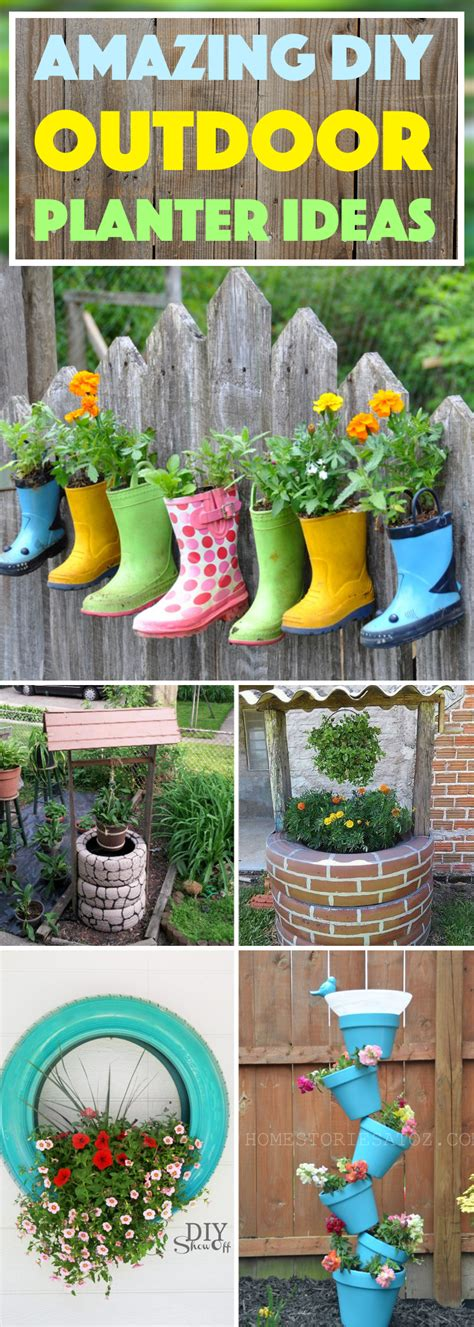 backyard planters ideas 20 amazing diy outdoor planter ideas to make your garden wonderful