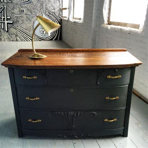 chalk paint gold commode antique en bois vintage dresser painted with