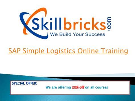tutorial sap logistics new batch on sap simple logistics online training at