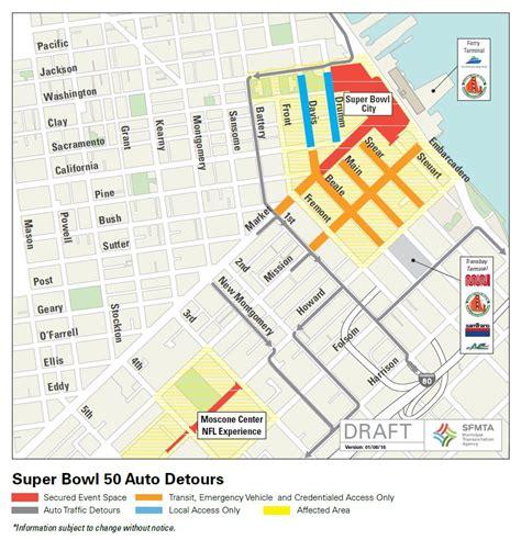 san francisco map traffic bowl 50 closures coming to downtown soma