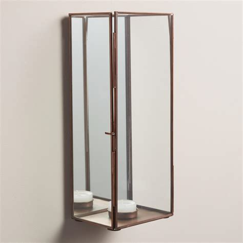Mirrored Wall Sconce Mirrored Reese Wall Sconce World Market