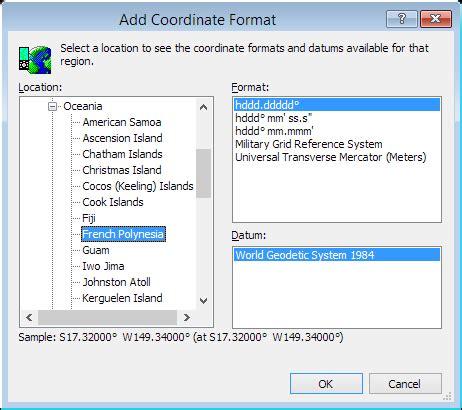 coordinates format converter convert french polynesia coordinates