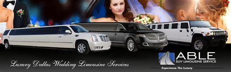 Wedding Limousine Services dallas wedding limo service rental by able suv limousines