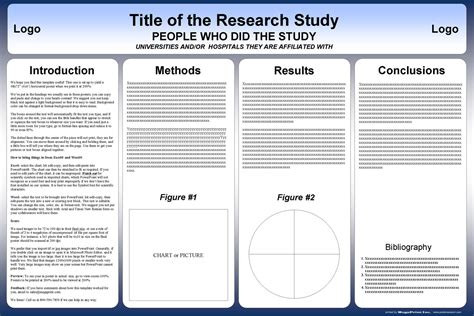 design ideas poster templates powerpoint template for scientific