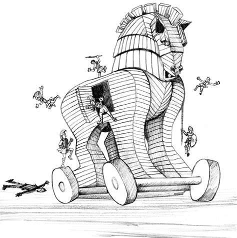 coloring page trojan horse free coloring pages of the trojan horse