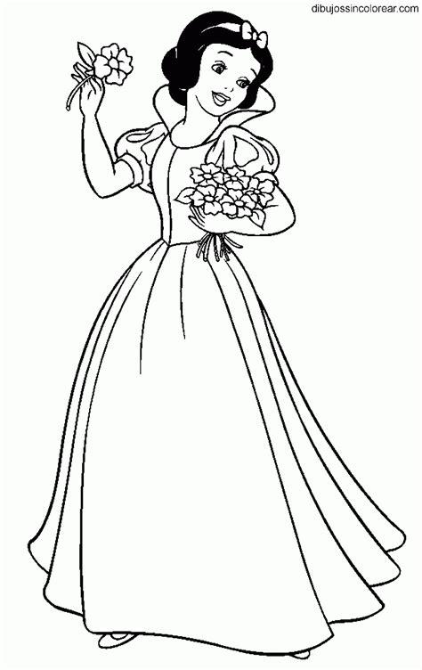 imagenes para colorear blanca nieves dibujos de blancanieves princesa disney para colorear