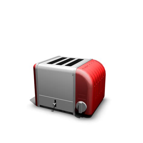Matrial Color toaster design and decorate your room in 3d