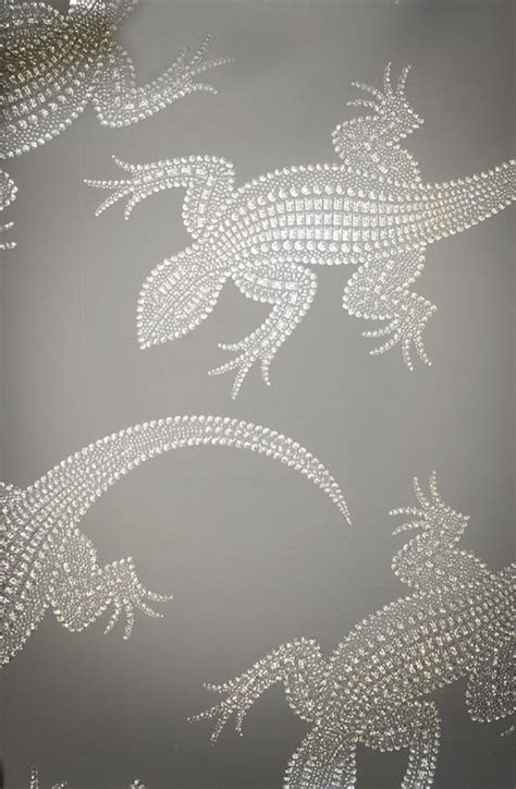 grey wallpaper with crystals komodo wallpaper a silver grey wallpaper with a stunning