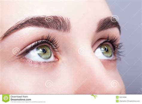 Make Up Upan Duvan Eye Zone And Brows With Day Makeup Stock Photo