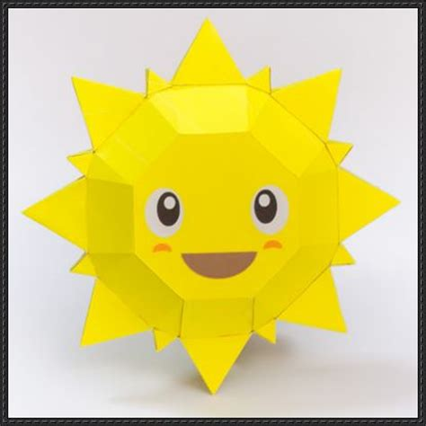 How To Make A Paper Sun - smiling sun free paper papercraftsquare