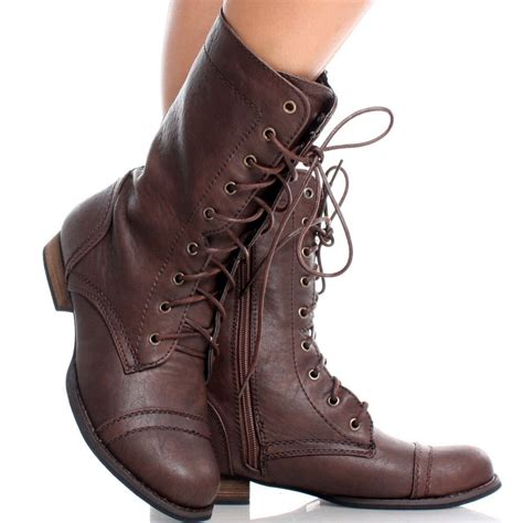 brown boots for womenbrown toe lace up