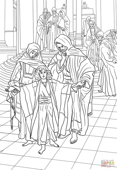 jesus in the temple at 12 coloring page 12 year old jesus found in the temple coloring page free
