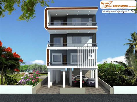 floor plan for modern triplex 3 floor house click on 3 bedrooms independent floor design in 408m2 12m x 34m
