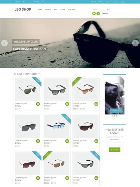 50 best ecommerce website templates free premium
