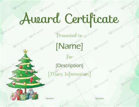 xmas award certificate ideas themed award certificate templates in word pdf