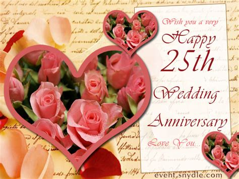 25th Wedding Anniversary Card And In by Wedding Anniversary Cards Festival Around The World