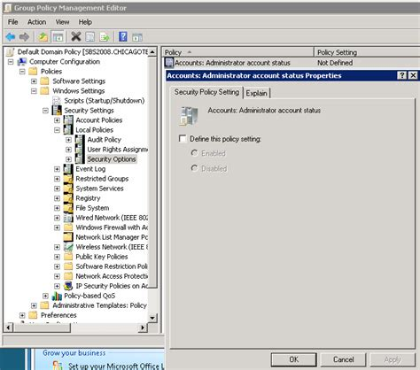 how to enable disable local administrator account using