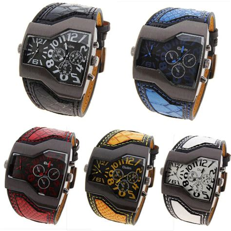 aliexpress buy oulm mens real leather watches