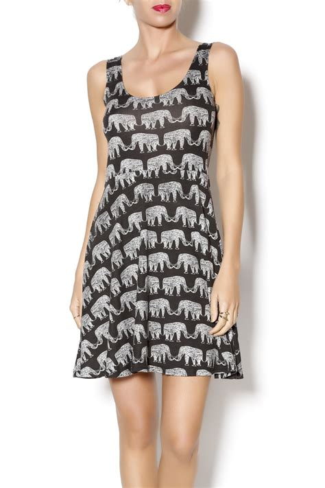 Elephant Dress angie elephant print dress from delaware by grassroots shoptiques