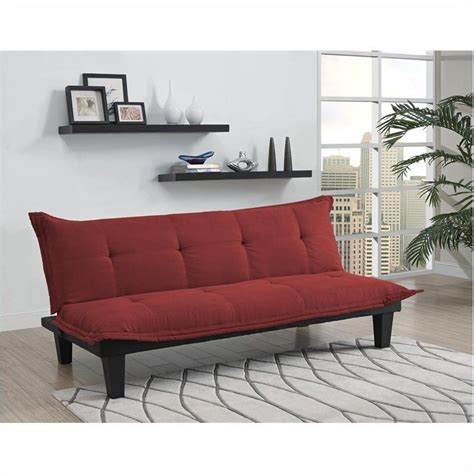 red convertible sofa convertible futon sofa in red 2038519