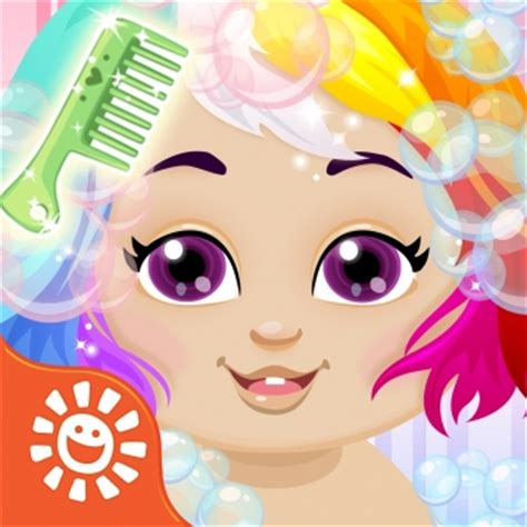 cutting hair games for girl sunnyville baby salon kids game play free fun cut