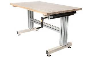 Adjustable Height Work Table Cantilever Hand Crank Adjustable Height Work Table Frame