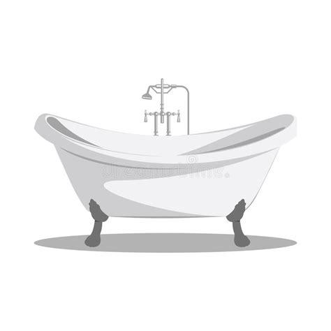 retro bathtub cartoon retro bathtub icon white with arms and legs stock