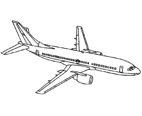 737 Coloring Page by Boeing 737 Free Colouring Pages