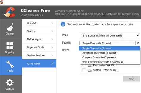 ccleaner wipe entire drive permanently wipe hard drive data to make it unrecoverable