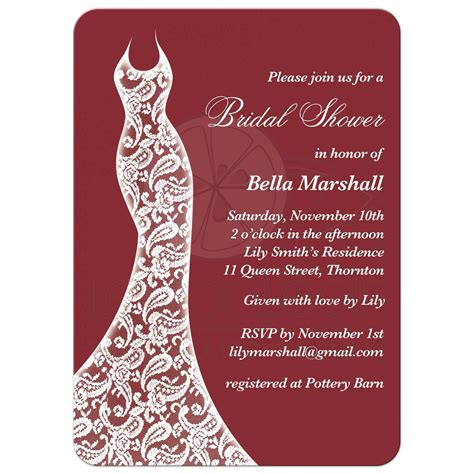 Bridal Invitations by Bridal Shower Invitation Beautiful Marsala