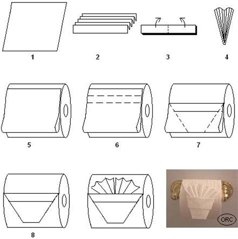 How To Fold Toilet Paper - toilet paper origami pleated tuck